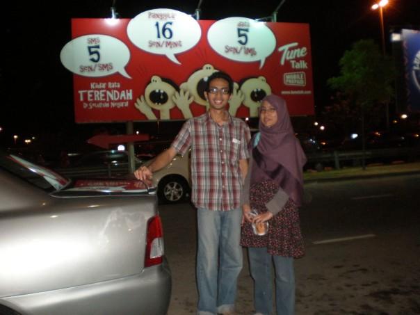 Adlan dan Huda baharu tiba  di LCCT dari OZ