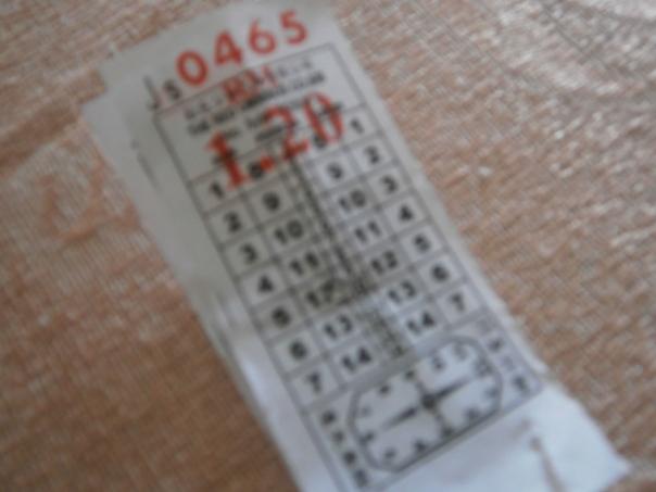 Tiket Bas syarikat Red Omnibus, Taiping